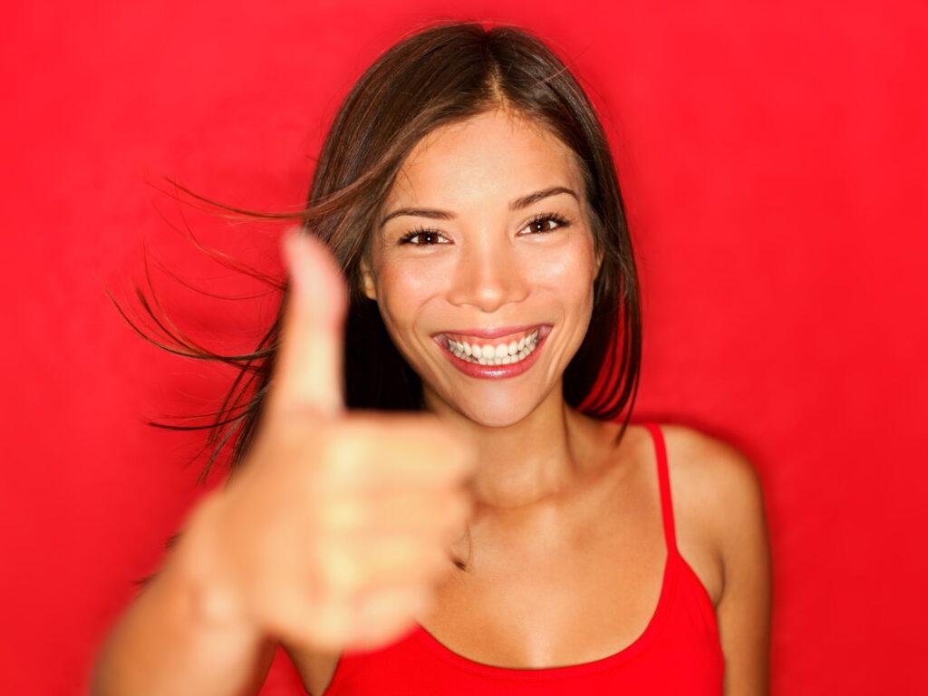 Thumbs Up Like Woman Happy